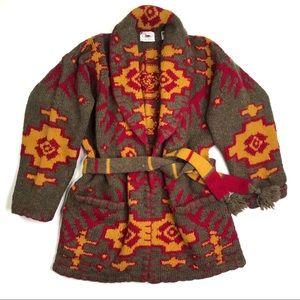 Pure Wool Southwest Cardigan Sweater Size Medium